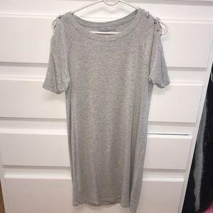 Grey comfy tee shirt dress